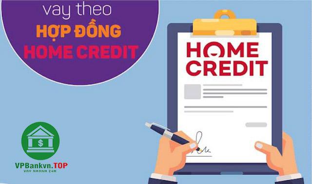 vay theo hợp đồng trả góp home credit